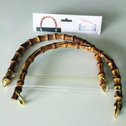 Manici per borse a semicerchio in bambù naturale