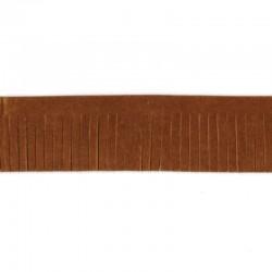 Frangia in ecopelle effetto scamosciato passamaneria decorativa 4cm