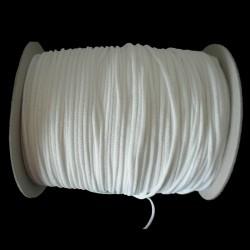 Nastro elastico tubolare morbido da 3mm bianco ideale per mascherine