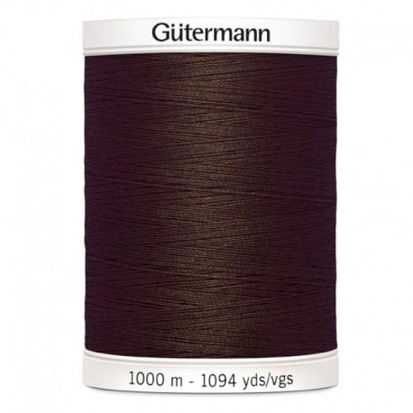 Filo per cucire Gutermann colore 694 Marrone Cioccolato spola da 1000m