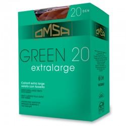 GREEN XL Collant calibrato velato 20 den