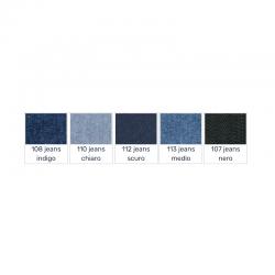 Saldastrappi termoadesivo jeans in tessuto denim