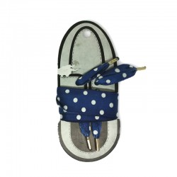 Stringhe fashion blu e pois bianchi per Sneakers 100cm x 25mm
