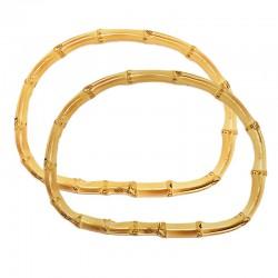 Manici per borse ovali in bambù naturale 19cm