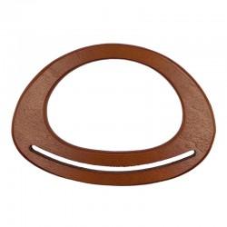 Manici per borse ovali con fessura in legno naturale 18cm