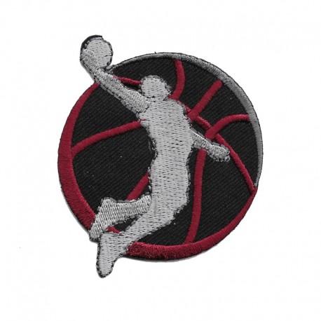 Basketball simil Jordan patch grande ricamata termoadesiva - Modidea