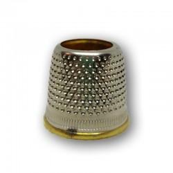 Ditale UOMO Aperto in ottone nichelato 20mm