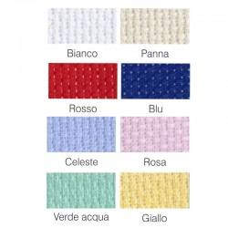 Canovaccio Tela Aida colorata da 55 quadretti per ricamo