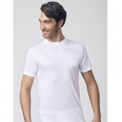 T-Shirt uomo girocollo mezza manica in puro cotone taglie calibrate