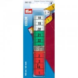 Centimetro, metro da sarta tricolore con doppia scala in centimetri e pollici