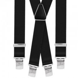 Bretelle straccali da Uomo - Nero 25 mm - lunghezza 120 cm