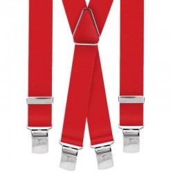 Bretelle straccali da Uomo - Rosso 25 mm - lunghezza 120 cm