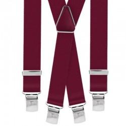 Bretelle straccali da Uomo - Bordeaux 25 mm - lunghezza 120 cm