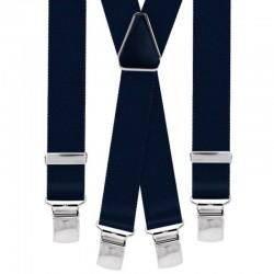 Bretelle straccali da Uomo - Blu 25 mm - lunghezza 120 cm