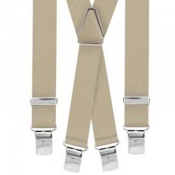 Bretelle straccali da Uomo - Beige 25 mm - lunghezza 120 cm