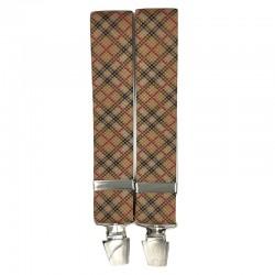 Bretelle straccali da Uomo - Fantasia Scozzese scuro - 35 mm - lunghezza 120 cm