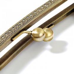Chiusura per borsa clic clac in metallo con manico in legno Kylie