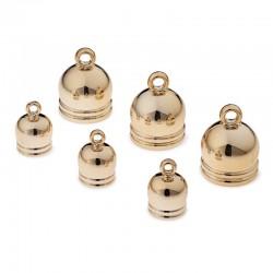 Cappucci per rifinire nappine in metallo dorato Prym Love