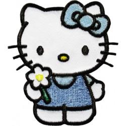 Hello Kitty applicazione ricamata termoadesiva