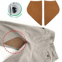 Rinforzi scamosciati per pantaloni termoadesivi